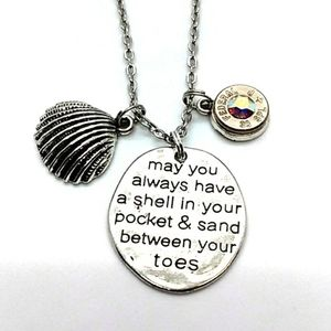 Beach Quote Bullet Necklace 38 Special